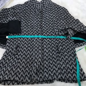 BB Dakota Jackets & Coats - BB Dakota black and White Chevron cape jacket